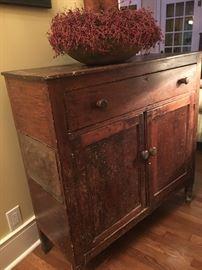 Tn.Antique pie safe cupboard cabinet very primitive
