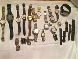 Large selection of watches