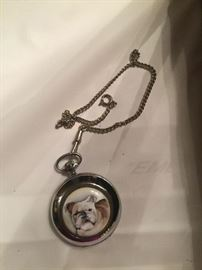 Bulldog pocket watch