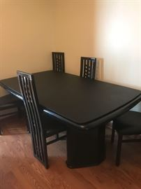 Black lacquer table and chairs $350 set