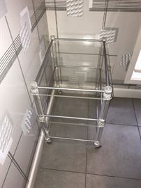 Super Lucite Bar cart, maybe unsigned Charles Jones