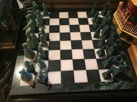 Chess sets marble Black and white $90