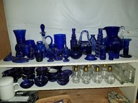 Lovely cobalt blue glass pieces