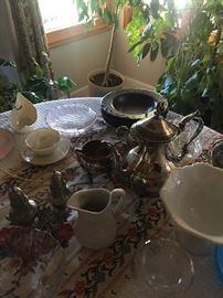 Vintage Silver Ceramics and China