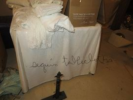 vintage sequined tablecloths, excellent, fit card table size (from Saks)