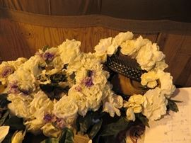 floral wreaths (great for centerpieces with candles in middle)