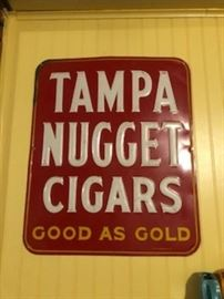 Vintage Tampa Nugget Cigar sign