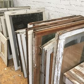 All kinds of amazing wood frame windows!