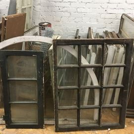 Many unique vintage windows!
