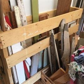 Unique scrap lumber and cupboard doors