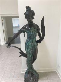 E. Rossi Bronze Statue