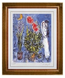Marc Chagall Singed Lithograph