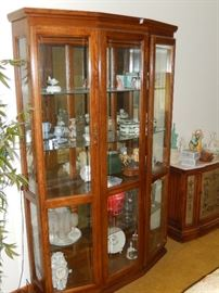 Large curio or display cabinet