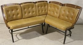 Vintage banquette with original cushions