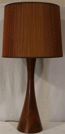 Monumental teak table lamp