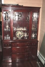 Breakfront filled with Decorative Serving Pieces
