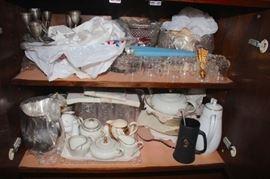 Decorative Serving  Pieces including Tea Set