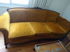 Very clean Victorian couch and arm chair