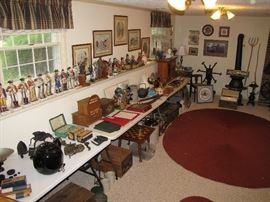 Room full of antiques & collectibles, rugs and more!