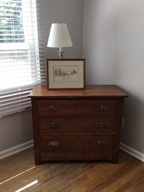 Antique oak dresser, original quality pulls.