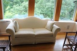 White Damask Sofa just stunning.