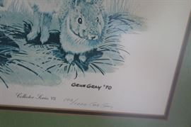 Signature on Gray print