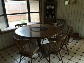 Furniture by Zimbabwe Africa maker Adam Bede.  This round table is made from Afrian wood.
