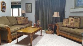 Beautiful, newer love seat and sofa