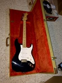 """This is the Fender Stratocaster replica of Eric Clapton's """"Blackie""""."""