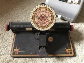 Vintage Dial Typewriter