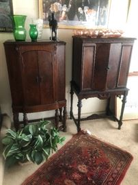 ALMOST PRISTINE ANTIQUE CABINETS! $250.00 & $350.00 OBO!