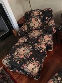 Floral Chair / Ottoman $ 160.00
