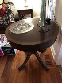 Antique Drum Table $ 170.00