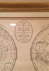 Framed Antique Map