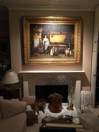 """Original Evariste Carpentier painting (37.5 x 51"""")"""
