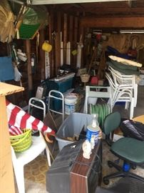 The garage is packed!  We are still unpacking and sorting!