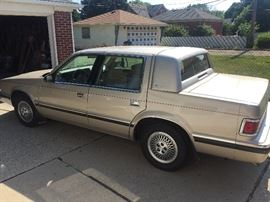 "1993 Dodge Dynasty!  54,000 miles Garage kept and maintained annually.  Qualifies as a ""Classic"" this year!"