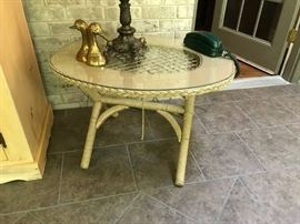 #4	wicker glass top Coffee Table   32x26x21	 $30.00
