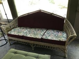 "#7	Wicker Sofa (inside kept) 76"" Long as is	 $100.00"