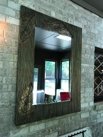 #8	Gold Beveled Mirror w/leaf design   38x50	 $100.00