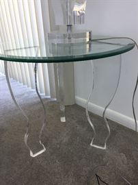 acrylic table legs with glass top
