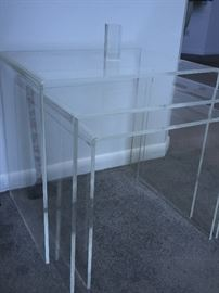 Set of 3 Acrylic stacking tables