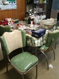 1950s Kitchen table and chairs set