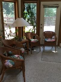 Wicker furniture  set of 4 chairs