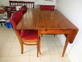 Southern yellow pine drop leaf table