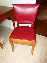 Set of 4 wheat stain Heywood Wakefield chairs