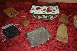 Antique Ladies Beaded and Chain Mail Mesh Purses