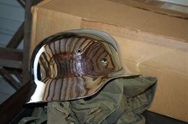 Vintage Chrome Helmet