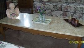 Marble Top Coffee Table with 2 Matching End Tables
