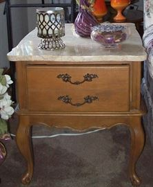 2 Marble Top End Tables and Matching Coffee Table